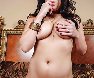 Top rated Asian babe London Keyes showing off her pierced nipples - part 2