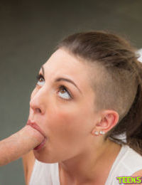 Teen Rachael Madori is sucking with no hands like a professional