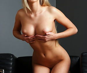 Erotic European Barbara D in mini dress showing tight ass and firm big tits - part 2