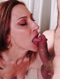 Mature mom Betty Blaze gets teased while in her sexy yoga pants - part 2