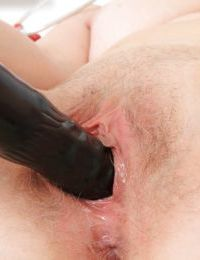 Big tits mature Ester reveals her hairy pussy in a uniform - part 2