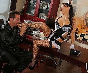 Marvelous Asian maid Asa Akira is having her legs teased