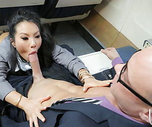 Lewd asian stews give some cock sucking treatment to their hung clients