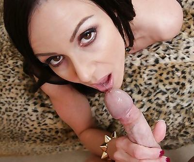 Kendra Lust teases a hard dick with her amazing ass and blows it