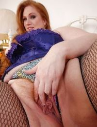 Fat Julie shows off her giant big boobies and pretty unshaved snatch - part 2