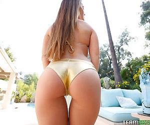 18 year grey amateur Abby Cross posing in palmy bikini yon conjoin - part 2