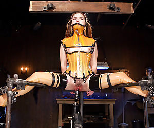 Young slut Juliette March tortured with electroshock in bondage