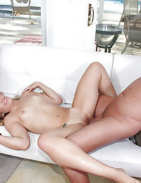 Teen babes Kimberly Kiss and her girl enjoying groupsex with bukkake