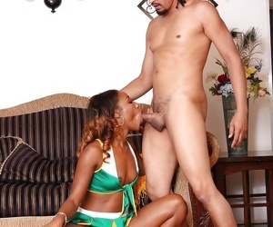 Morose ebony teenager Chanell Heart is getting her pussy licked - attaching 2