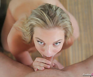 Blonde first timer Tiffany Dawson taking painful vaginal penetration
