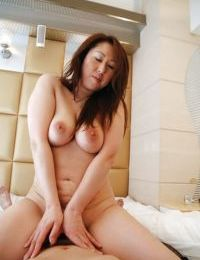 Eastern model Eiko Kawai benefits from trimmed cunt vibed- cocked up and creampied