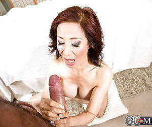 Asian gran Kim Anh giving hot oil massage before riding cock cowgirl style - part 2