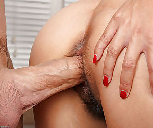Asian amateur Lucky having her hair pulled during hairy cunt fucking - part 2