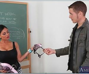 Hot teacher Priya Anjali Rai gives a blowjob and gets fucked by student