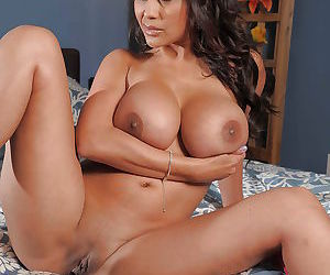 Curvaceous indian MILF Priya Anjali Rai stripping on the bed - part 2