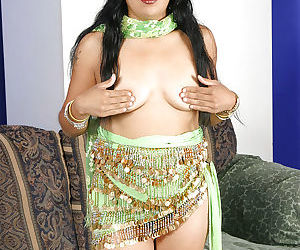 Lusty indian babe uncovering her small tittiess and hairy cunt - part 2