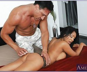 Busty indian wife Priya Anjali Rai takes a fat cock in her brown pussy
