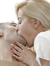 Hot Euro blonde Cherry Kiss receiving deep anal penetration after oral sex