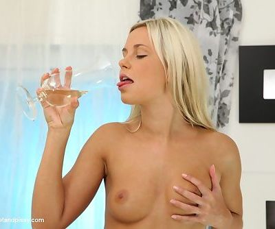 Sweet Dido Angel is pissing and drinking her own piss in the sexy way - part 2