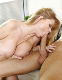 Big tits mature blondie Darla Crane is having her pussy licked out