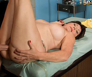 Busty granny Bea Cummins enjoys younger doctor to fuck her brains out - part 2