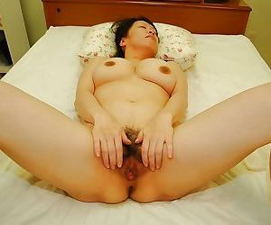 Slutty japanese MILF with broad in the beam Bristols gets her hairy cunt cocked with regard to tough