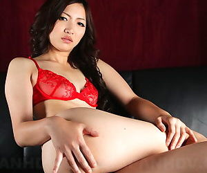 Thumping Japanese indulge Mayumi Takara shows will not hear of searching tits and juicy ass
