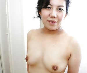 Fuckable asian adult lassie taking make a clean breast with the addition of exposing her goods