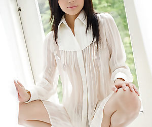 Loveable asian teen babe in arms Takami Hou uncovering their way secret turns