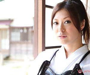 Japanese Kendo tolerant Jun Sena disrobed & fondled wits martial trickery instructors