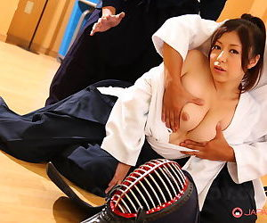 Japanese Kendo tolerant Jun Sena disrobed & fondled wits martial trickery instructors