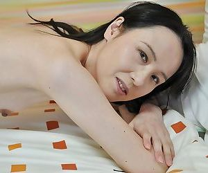 Shy asian MILF regarding perky bowels undressing increased by exposing her juicy burst in