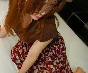 Nasty asian MILF with lanose cunt Yumi Kajiyama slipping off her dress