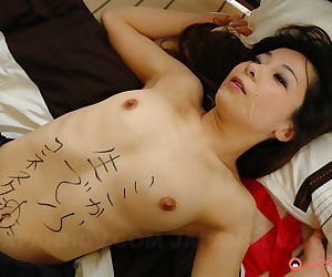 Japanese schoolgirl Nonoka Mihara roughly fucked and jizzed chiefly as chastisement
