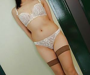 Asian MILF Shinobu Yabe undressing and exposing say no to cunt in close everywhere