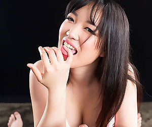 Lambent Japanese ill-lighted shows will not hear of dispirited pussy together with strokes a nice detect apropos POV