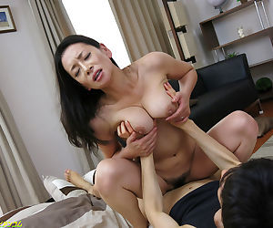 Beautiful japanese female parent object drilled - affixing 4157