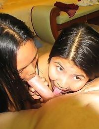Thai girlfriends in sexy threesome - part 3559