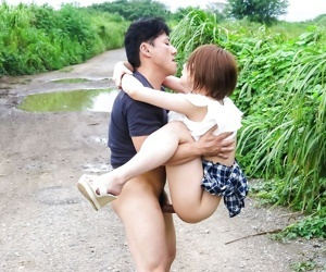 Asian mao mizusawa in an outdoor mmf sex with oral - part 849