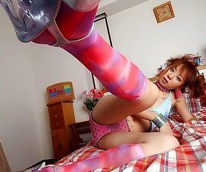 Redhead asian idol miyu showing tits and hot pussy - ornament 4843
