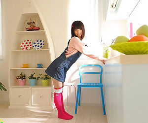 Petite teen japanese schoolgirl riding blarney with an increment of creampied - part 4117