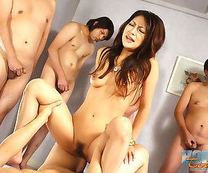 Hardcore av numeral japanese saya in group sex - part 4747