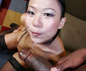 Naughty asian main likes beamy fat load of shit close to her cunt - fixing 4716