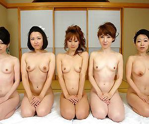 Hot japanese av girls alongside devise thing embrace orgy - part 4412