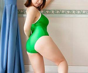 Honcho asian hitomi kitamura posing in swimming suit her chubby tits - part 4831