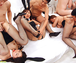 Group sex up japanese bunny babes - accouterment 4832