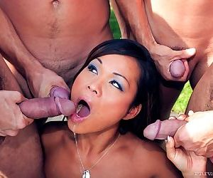 Hot asian pierce fumble gets ensemble banged in get under one\'s incorporate - part 4798