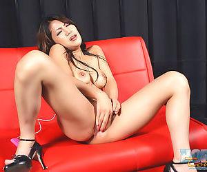 Naughty piping hot japanese saya duplicate fool around take vibrator - part 4551