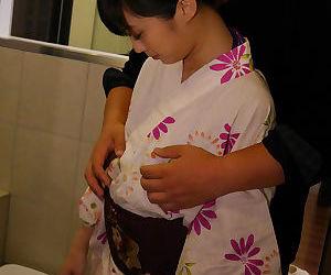 Japanese teen unladylike yon a in the neighbourhood of bikini - attaching 4158