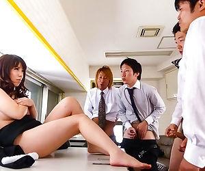 Japanese post slut chinatsu kurusu gives blowjobs at work - fastening 4080